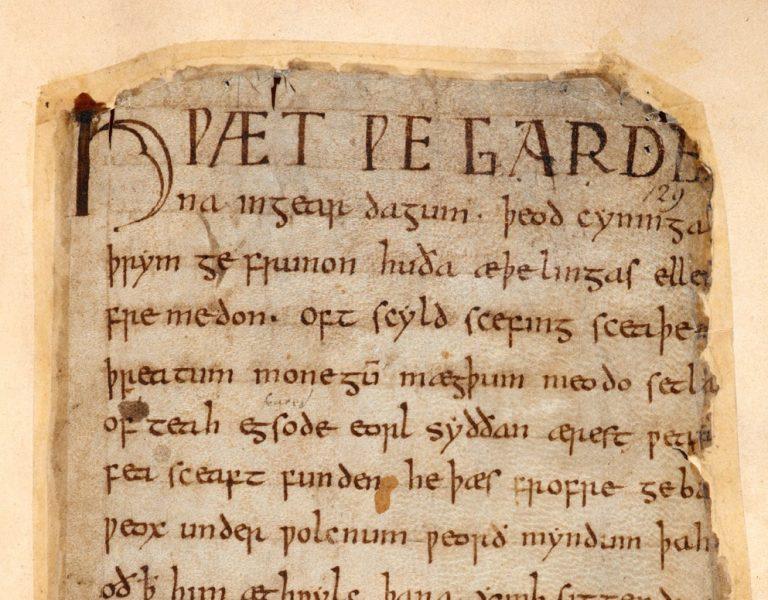Beowulf, Cotton MS Vitellius a xv f132r crop