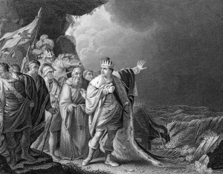 Canute Reproving His Courtiers, 1848
