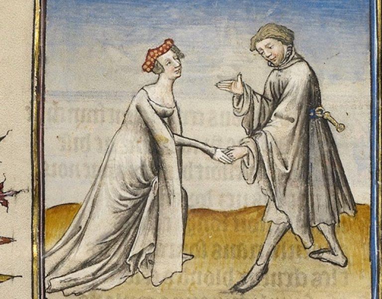 Husband and Wife Illuminated Manuscript crop