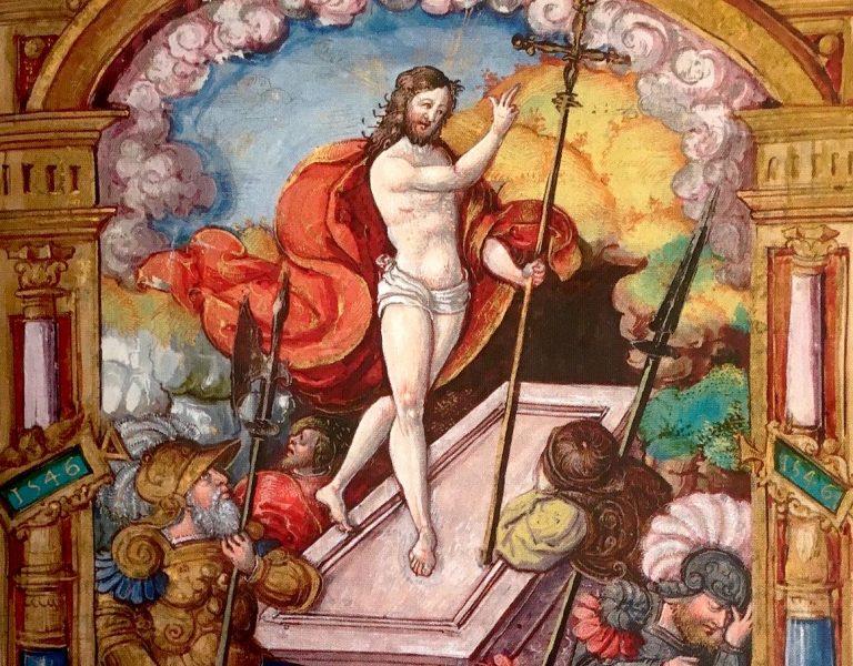 La Résurrection du Christ, miniature d'un Évangéliaire de François Ier., 16th c