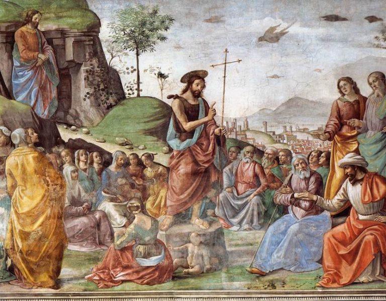 Preaching of St. John the Baptist by Domenico Ghirlandaio, 1449–1494