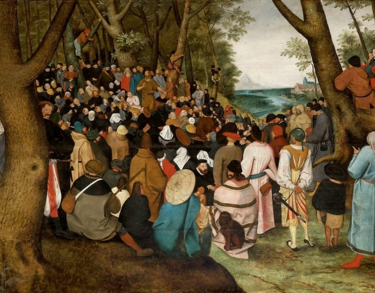 The Preaching of St. John the Baptist by Pieter Bruegel the Younger, 1601-1604